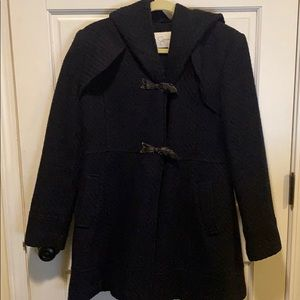 Jessica Simpson Navy Hooded Toggle Coat